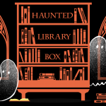 Haunted library banner ghosts master