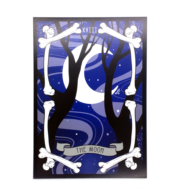 The Moon Tarot Card Art Print